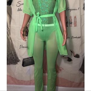Other - Neon Green Mesh Pants